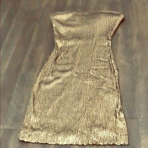 Bebe strapless sequin mini dress